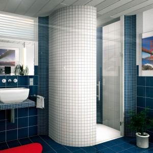 Mozaikos plytelių klijavimas dušo kabina